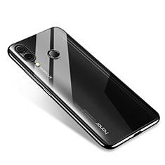 Silikon Schutzhülle Ultra Dünn Tasche Durchsichtig Transparent H02 für Huawei Honor Note 10 Schwarz