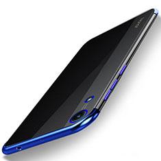 Silikon Schutzhülle Ultra Dünn Tasche Durchsichtig Transparent H02 für Huawei Honor Play 8A Blau