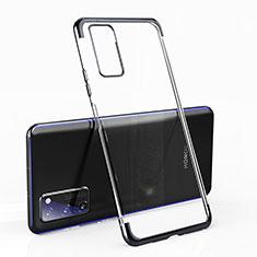 Silikon Schutzhülle Ultra Dünn Tasche Durchsichtig Transparent H02 für Huawei Honor V30 Pro 5G Schwarz