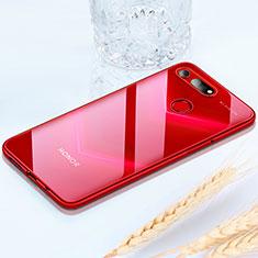 Silikon Schutzhülle Ultra Dünn Tasche Durchsichtig Transparent H02 für Huawei Honor View 20 Rot