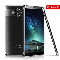 Silikon Schutzhülle Ultra Dünn Tasche Durchsichtig Transparent H02 für Huawei Mate 10 Silber