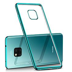 Silikon Schutzhülle Ultra Dünn Tasche Durchsichtig Transparent H02 für Huawei Mate 20 Pro Grün