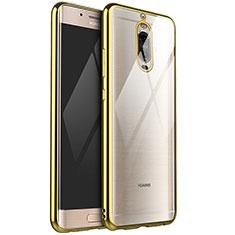 Silikon Schutzhülle Ultra Dünn Tasche Durchsichtig Transparent H02 für Huawei Mate 9 Pro Gold