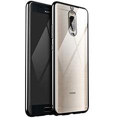Silikon Schutzhülle Ultra Dünn Tasche Durchsichtig Transparent H02 für Huawei Mate 9 Pro Schwarz