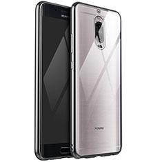 Silikon Schutzhülle Ultra Dünn Tasche Durchsichtig Transparent H02 für Huawei Mate 9 Pro Silber
