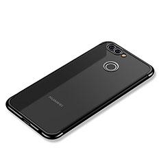 Silikon Schutzhülle Ultra Dünn Tasche Durchsichtig Transparent H02 für Huawei Nova 2 Plus Schwarz