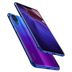 Silikon Schutzhülle Ultra Dünn Tasche Durchsichtig Transparent H02 für Huawei Nova 3 Blau