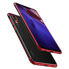 Silikon Schutzhülle Ultra Dünn Tasche Durchsichtig Transparent H02 für Huawei Nova 3 Rot