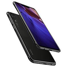 Silikon Schutzhülle Ultra Dünn Tasche Durchsichtig Transparent H02 für Huawei Nova 3 Schwarz