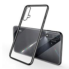 Silikon Schutzhülle Ultra Dünn Tasche Durchsichtig Transparent H02 für Huawei Nova 5 Schwarz
