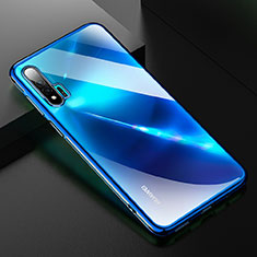 Silikon Schutzhülle Ultra Dünn Tasche Durchsichtig Transparent H02 für Huawei Nova 6 5G Blau