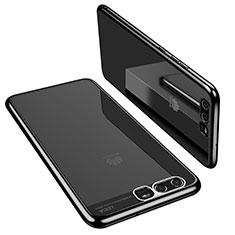 Silikon Schutzhülle Ultra Dünn Tasche Durchsichtig Transparent H02 für Huawei P10 Schwarz