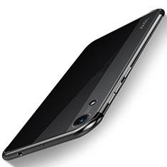 Silikon Schutzhülle Ultra Dünn Tasche Durchsichtig Transparent H02 für Huawei Y6 (2019) Schwarz