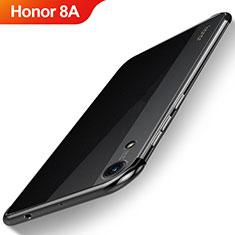 Silikon Schutzhülle Ultra Dünn Tasche Durchsichtig Transparent H02 für Huawei Y6 Prime (2019) Schwarz
