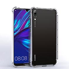 Silikon Schutzhülle Ultra Dünn Tasche Durchsichtig Transparent H02 für Huawei Y7 (2019) Klar
