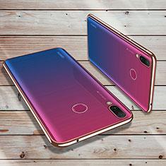 Silikon Schutzhülle Ultra Dünn Tasche Durchsichtig Transparent H02 für Huawei Y9 (2019) Rosegold