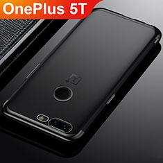 Silikon Schutzhülle Ultra Dünn Tasche Durchsichtig Transparent H02 für OnePlus 5T A5010 Schwarz