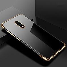 Silikon Schutzhülle Ultra Dünn Tasche Durchsichtig Transparent H02 für OnePlus 7 Gold