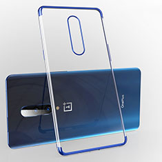 Silikon Schutzhülle Ultra Dünn Tasche Durchsichtig Transparent H02 für OnePlus 7 Pro Blau
