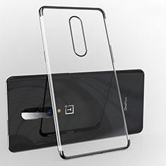 Silikon Schutzhülle Ultra Dünn Tasche Durchsichtig Transparent H02 für OnePlus 7 Pro Schwarz