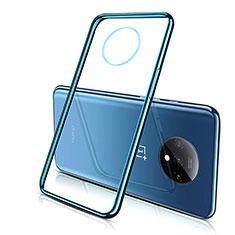 Silikon Schutzhülle Ultra Dünn Tasche Durchsichtig Transparent H02 für OnePlus 7T Blau