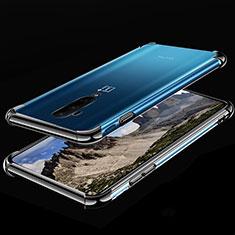 Silikon Schutzhülle Ultra Dünn Tasche Durchsichtig Transparent H02 für OnePlus 7T Pro Schwarz