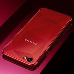 Silikon Schutzhülle Ultra Dünn Tasche Durchsichtig Transparent H02 für Oppo A3 Rot
