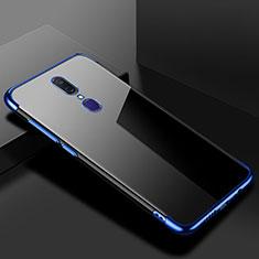 Silikon Schutzhülle Ultra Dünn Tasche Durchsichtig Transparent H02 für Oppo A9X Blau