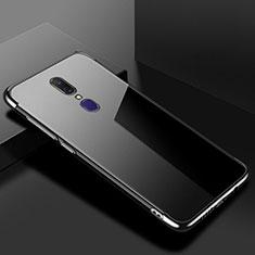 Silikon Schutzhülle Ultra Dünn Tasche Durchsichtig Transparent H02 für Oppo A9X Schwarz