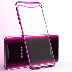 Silikon Schutzhülle Ultra Dünn Tasche Durchsichtig Transparent H02 für Oppo Find X Pink