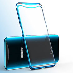 Silikon Schutzhülle Ultra Dünn Tasche Durchsichtig Transparent H02 für Oppo Find X Super Flash Edition Blau