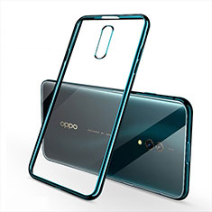 Silikon Schutzhülle Ultra Dünn Tasche Durchsichtig Transparent H02 für Oppo K3 Grün