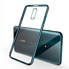 Silikon Schutzhülle Ultra Dünn Tasche Durchsichtig Transparent H02 für Oppo Realme X Grün