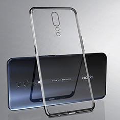 Silikon Schutzhülle Ultra Dünn Tasche Durchsichtig Transparent H02 für Oppo Reno Z Schwarz