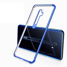 Silikon Schutzhülle Ultra Dünn Tasche Durchsichtig Transparent H02 für Oppo Reno2 Z Blau