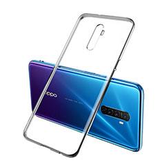 Silikon Schutzhülle Ultra Dünn Tasche Durchsichtig Transparent H02 für Realme X2 Pro Schwarz
