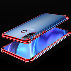 Silikon Schutzhülle Ultra Dünn Tasche Durchsichtig Transparent H02 für Samsung Galaxy A8s SM-G8870 Rot