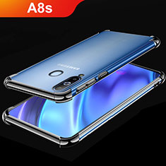 Silikon Schutzhülle Ultra Dünn Tasche Durchsichtig Transparent H02 für Samsung Galaxy A8s SM-G8870 Schwarz