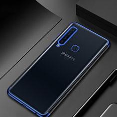 Silikon Schutzhülle Ultra Dünn Tasche Durchsichtig Transparent H02 für Samsung Galaxy A9s Blau