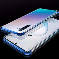 Silikon Schutzhülle Ultra Dünn Tasche Durchsichtig Transparent H02 für Samsung Galaxy Note 10 5G Blau