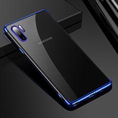 Silikon Schutzhülle Ultra Dünn Tasche Durchsichtig Transparent H02 für Samsung Galaxy Note 10 Plus Blau