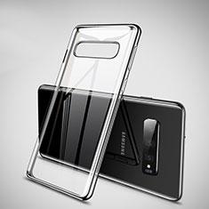 Silikon Schutzhülle Ultra Dünn Tasche Durchsichtig Transparent H02 für Samsung Galaxy S10 Schwarz