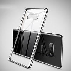 Silikon Schutzhülle Ultra Dünn Tasche Durchsichtig Transparent H02 für Samsung Galaxy S10e Silber
