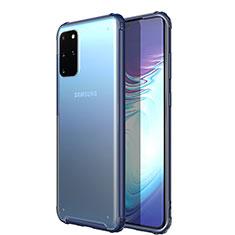 Silikon Schutzhülle Ultra Dünn Tasche Durchsichtig Transparent H02 für Samsung Galaxy S20 Plus 5G Blau