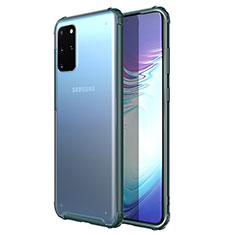 Silikon Schutzhülle Ultra Dünn Tasche Durchsichtig Transparent H02 für Samsung Galaxy S20 Plus 5G Grün