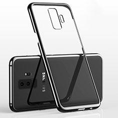 Silikon Schutzhülle Ultra Dünn Tasche Durchsichtig Transparent H02 für Samsung Galaxy S9 Plus Schwarz