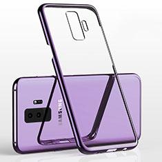 Silikon Schutzhülle Ultra Dünn Tasche Durchsichtig Transparent H02 für Samsung Galaxy S9 Plus Violett