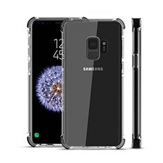 Silikon Schutzhülle Ultra Dünn Tasche Durchsichtig Transparent H02 für Samsung Galaxy S9 Schwarz
