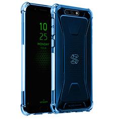 Silikon Schutzhülle Ultra Dünn Tasche Durchsichtig Transparent H02 für Xiaomi Black Shark Blau