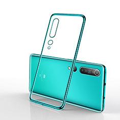 Silikon Schutzhülle Ultra Dünn Tasche Durchsichtig Transparent H02 für Xiaomi Mi 10 Grün